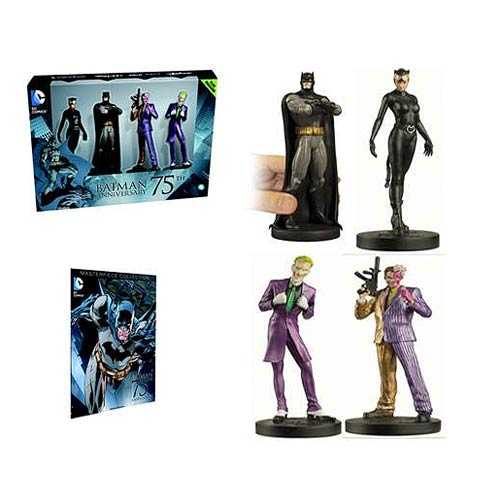 Batman 75th Anniversary Figurine Box Set with Magazine