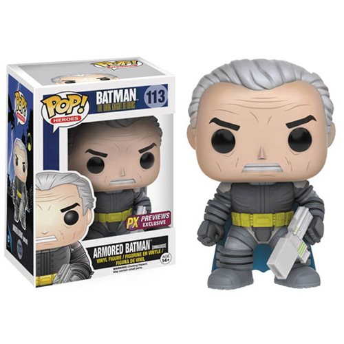Dark Knight Returns Unmasked Armored Batman Pop! Figure - PX
