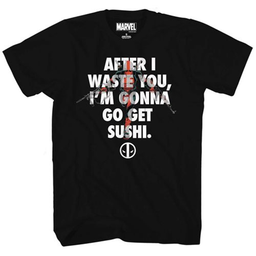 Deadpool Waste and Sushi T-Shirt - Previews Exclusive