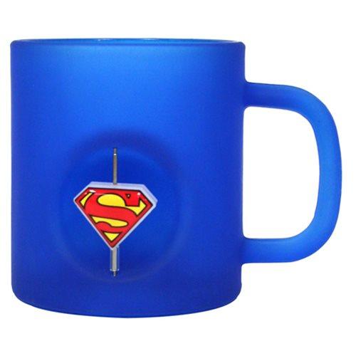 Superman 3D Rotating Logo Crystal Mug - Previews Exclusive