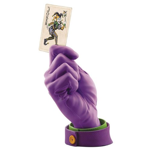 Batman Joker Calling Card Hand Statue Cryptozoic