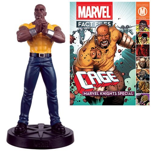 Marvel Fact Files Special #21 Luke Cage Statue with Mag.