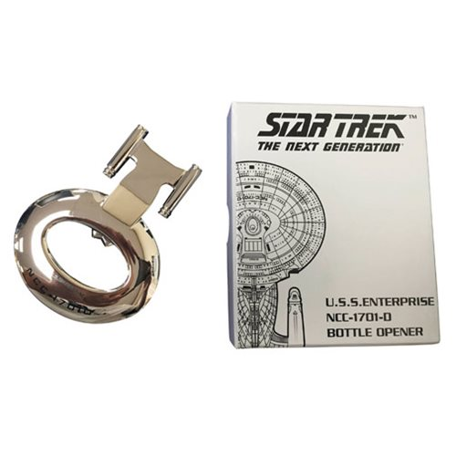Star Trek U.S.S. Enterprise NCC-1701-D Chrome Bottle Opener