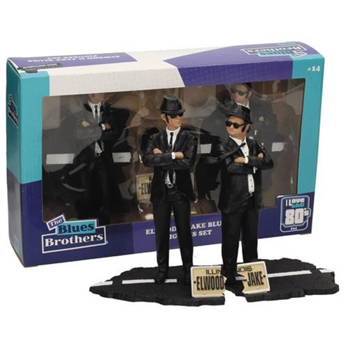 The_Blues_Brothers_Jake_and_Elwood_7Inch_Movie_Icons_Statue_Set