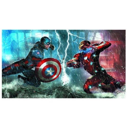 Captain America: Civil War Die Cut Embossed Tin Sign