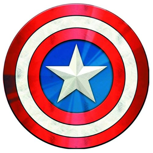 Captain America Shield Hallow Curved Tin Sign - Open Road