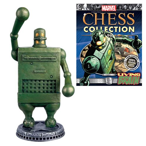 Marvel Living Brain Chess Piece with Collector Magazine -  Eaglemoss Publications
