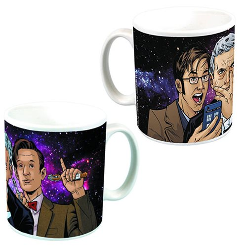 Doctor Who Group Selfie Mug - Previews Exclusives