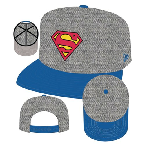 Superman Logo Heather Action Snapback Hat