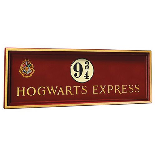 Harry Potter Express Platform 9 3/4 Wood Sign