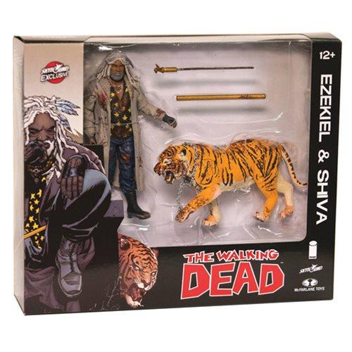 Walking Dead Comic Ezekiel & Shiva All Out War Bloody 2-Pack