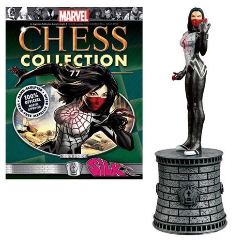 Marvel Silk White Bishop Chess Piece with Magazine -  Eaglemoss Publications
