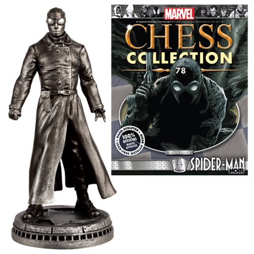 Marvel Spider-Man Noir White Pawn Chess Piece with Magazine -  Eaglemoss Publications