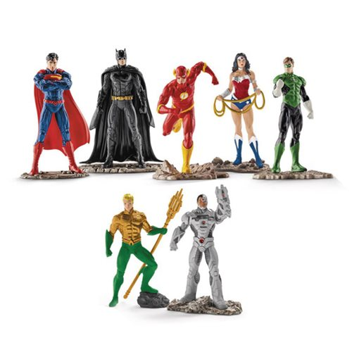 Justice League PVC Figurine 7-Pack