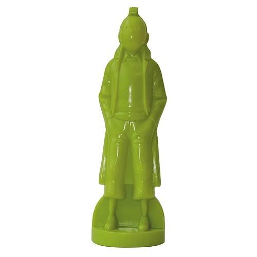 Adventures of Tintin Classic Pose Green Statue