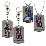 Captain America Dog Tag and Key Chain Box Set