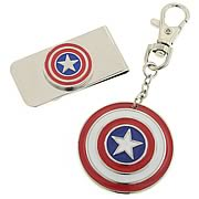 Captain America Money Clip and Key Chain Box Set