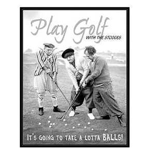 The Three Stooges Play Golf Retro Tin Sign