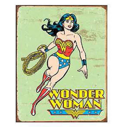 Wonder Woman DC Comics Retro Tin Sign