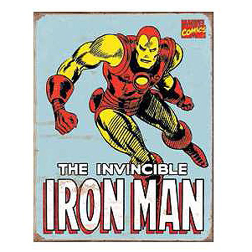 The Invincible Iron Man Marvel Comics Retro Tin Sign