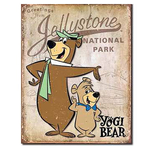 Yogi Bear Jellystone National Park Retro Tin Sign