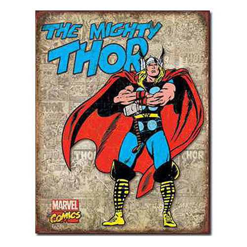 The Mighty Thor Panels Marvel Comics Retro Tin Sign