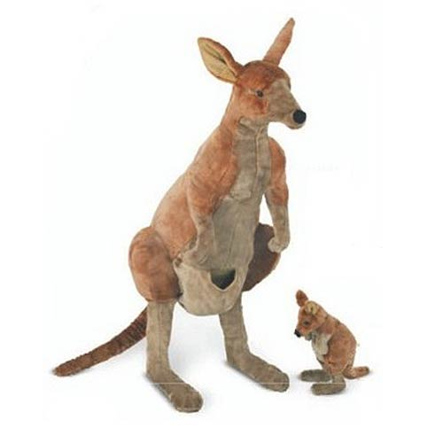 Kangaroo and Joey 40-Inch Plush 2-Pack