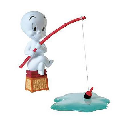Casper Fishing Figurine