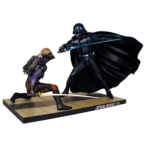 Star Wars McQuarrie Luke Skywalker vs. Darth Vader Statue
