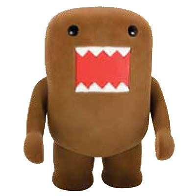 Domo Brown Flocked Vinyl Figure