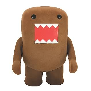 Domo Brown Flocked 4-Inch Vinyl Figure