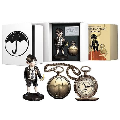 The Umbrella Academy Pocket Watch and Statue Set