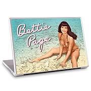 GelaSkins Bettie Page Beach Laptop Skin (15-Inch)