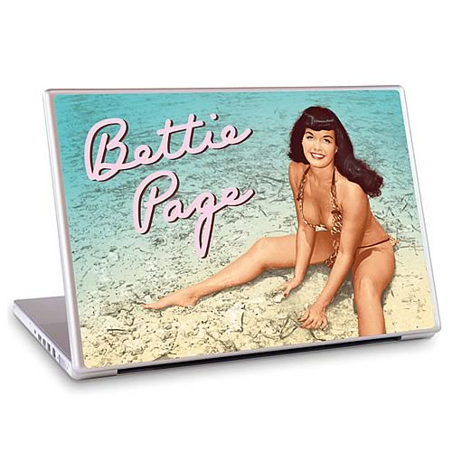 GelaSkins Bettie Page Beach Laptop Skin (15-Inch)