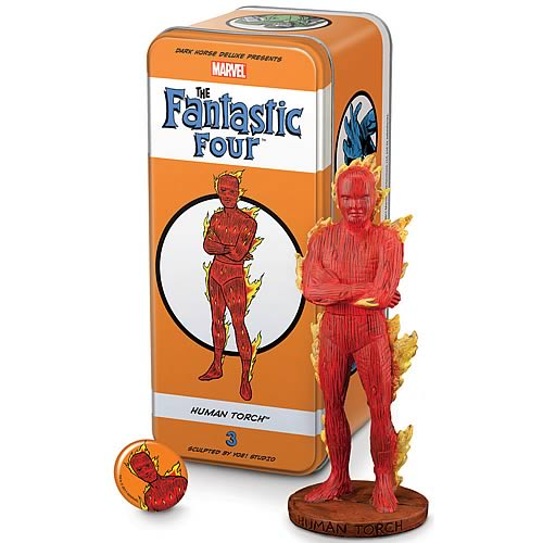 Fantastic Four Classic Character Human Torch Statue