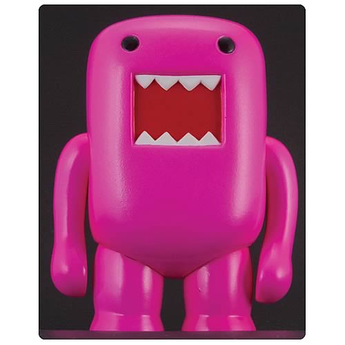 Domo 4-Inch Black Light Pink Vinyl Figure