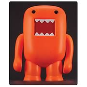 Domo 4-Inch Black Light Orange Vinyl Figure