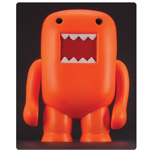 Domo 4-Inch Black Light Orange Vinyl Figure