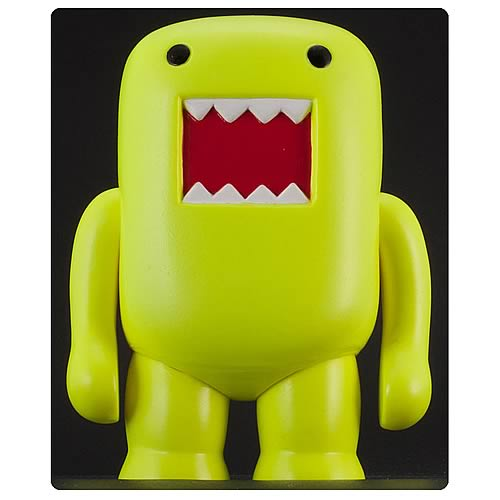 Domo 4-Inch Black Light Yellow Vinyl Figure