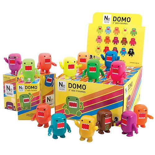 Domo Qee Neon Mystery Series Mini-Figures Display Box Case