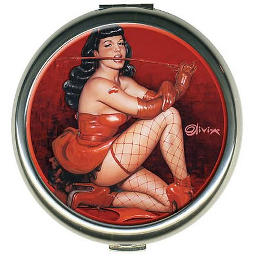 Bettie Page by Olivia Red Devil Round Compact