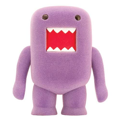 Domo Grape Soda Flocked 4-Inch Vinyl Figure