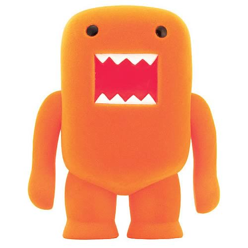 Domo Orange Soda Flocked 4-Inch Vinyl Figure