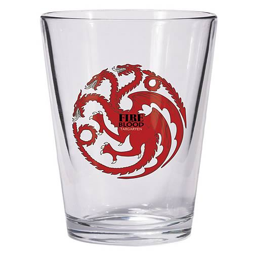 Game of Thrones Targaryen Sigil Shot Glass