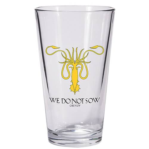 Game of Thrones Greyjoy Sigil Kraken Symbol Pint Glass