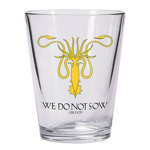 Game of Thrones Greyjoy Sigil Kraken Symbol Shot Glass