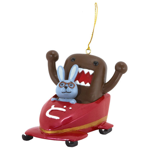 Domo and Friends in Bobsled Christmas Ornament