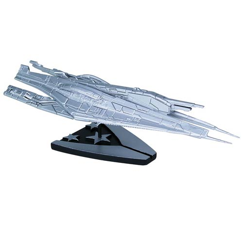 Mass Effect Alliance Cruiser Ship Silver LE Replica Statue