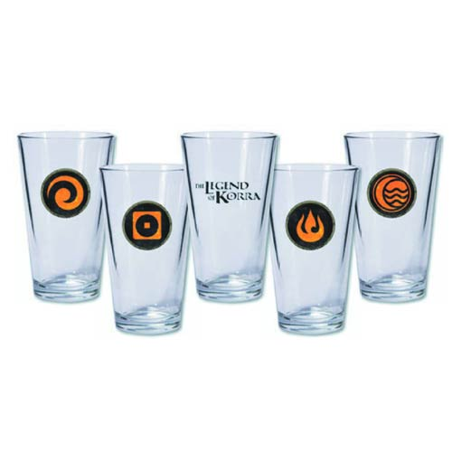 Avatar The Legend of Korra Pint Glass 4-Pack