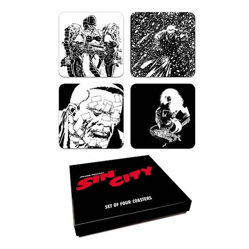 Sin City Comic Book Series 2 Coaster Set